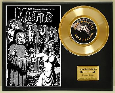 Misfits Limited Edition Concert Poster Series Gold 45 Display