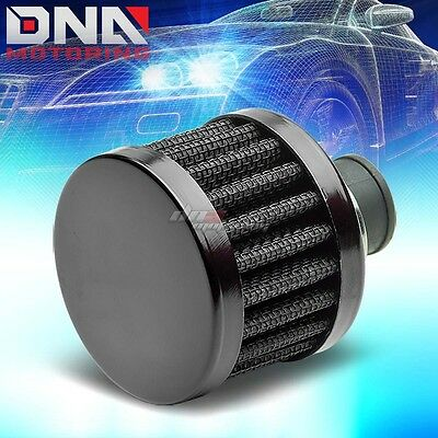 9MM OIL CATCH CRANKCASE VALVE VENT CONE BLACK AIR INTAKE FILTER/BREATHER+CLAMP