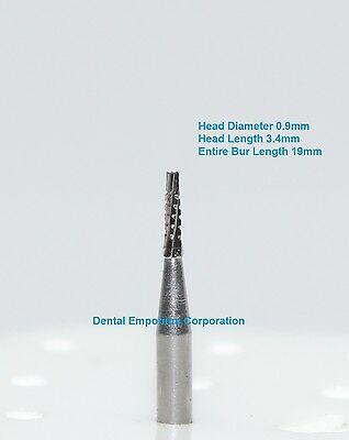Dental Carbide Burs FG # 699 Tapered Fissure CrossCut High Speed HP 10 per pack