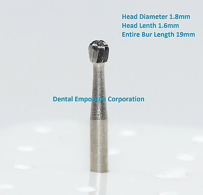 Dental Carbide Burs FG # 6 Round for High Speed Handpiece 10 per package