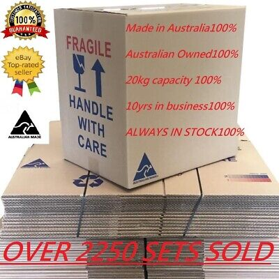 20 X 50L Moving Boxes Cardboard Removalist Package Deal