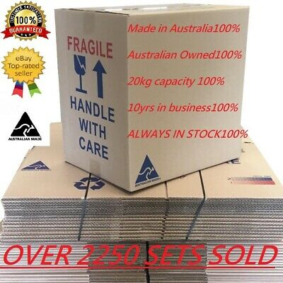20 X 50L Moving Boxes + Packing Materials Cardboard Removalist Package Deal
