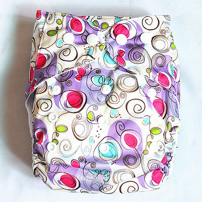 New Design Swirl Baby Cloth Diaper Cover Reusable Washable Adjustable Waterproof