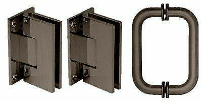 CRL Oil Rubbed Bronze Vienna Shower Pull and Hinge Set