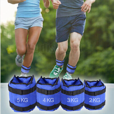 Adjustable Ankle Wrist Fitness Weight Gym Straps Exercise 2kg 4kg 6kg 10kg