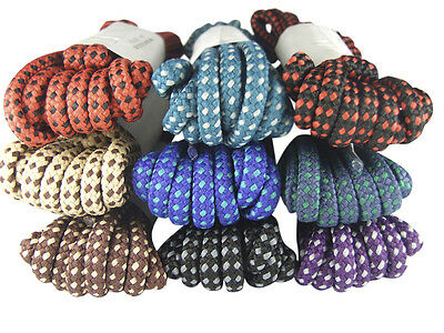 Strong Round Boot Laces Walking Hiking Boot Laces Bootlaces - Free Uk P&p!
