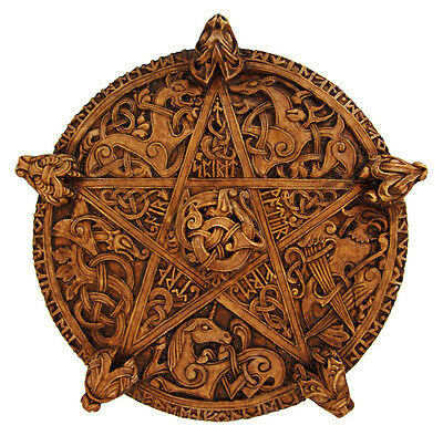 Large Celtic Knot Pentacle Plaque Dryad Designs  Wiccan Pentagram Pagan Wicca