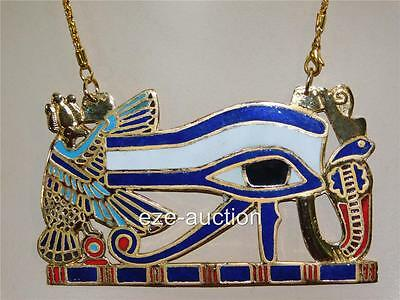 Ancient Egyptian X - Large Eye Of Horus Pectoral - Necklace Occasion Gift