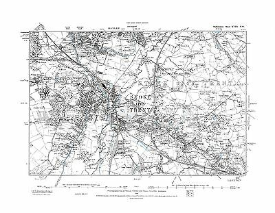 Old Map of Stoke upon Trent, Staffordshire in 1889- Repro 18 N W