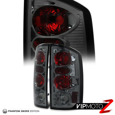 *SMOKING CHROME* Dodge Ram 1500 2500 3500 02-06 Tail Lights Brake Lamp Pair
