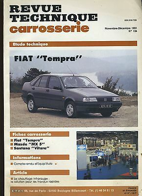 (9A)Revue Technique Carrosserie Fiat Tempra