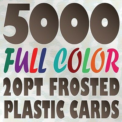 5000 Full Color Custom 20pt FROSTED PLASTIC BUSINESS CARD Printing Round Corners