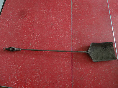 Vintage Fireplace Shovel Rusty Metal Cabin Fire Place Ranch Lodge Hearth Decor