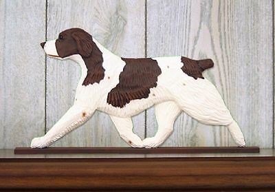 Brittany Spaniel Dog Figurine Sign Plaque Display Wall Decoration Liver