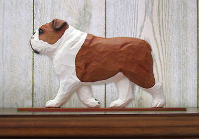 English Bulldog Figurine Sign Plaque Display Wall Decoration Red