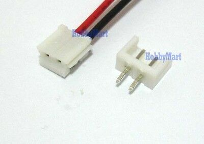 JST EH 2.5 2-Pin Female Connector with Wire L:300mm & Male Connector x 10 Sets
