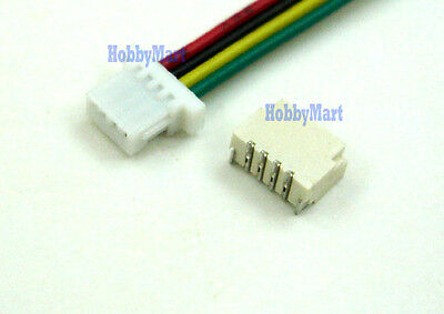Micro JST SH 1.0mm 4-Pin Connector plug with Wire x 10 sets