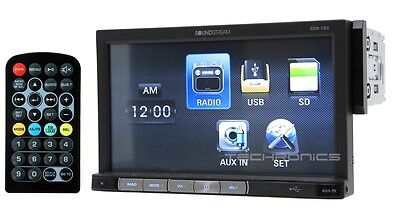 "SOUNDSTREAM SDR-762 +2YR WRNTY 7"" LCD MULTIMEDIA MP4 MP3 CAR STEREO RECEIVER"