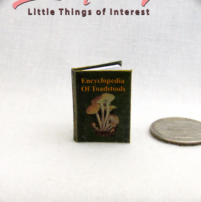 ENCYCLOPEDIA OF TOADSTOOLS Magic Textbook Miniature 1:12 Scale HARRY POTTER
