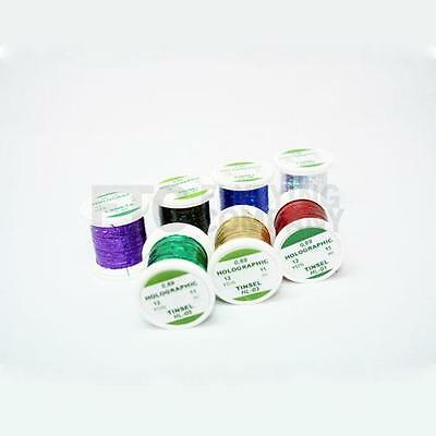 Hends Fine Holographic Tinsel for Fly Tying   Multiple Colours Available