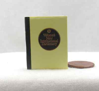 WEBSTER'S DICTIONARY 1:6 Scale Readable Miniature Doll Book