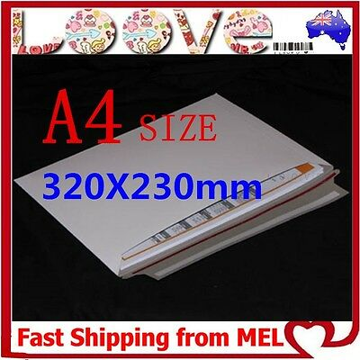 100x A4 Size 230x320mm Heavy Duty Envelope Card Mailer Tough Bag Cardboard Light
