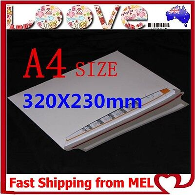10x A4 Size 230x320mm Heavy Duty Envelope Card Mailer Tough Bag Cardboard Light