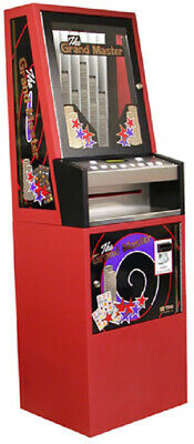 Red Grand Master 8 Column Lottery Pull Tab Vending Machine