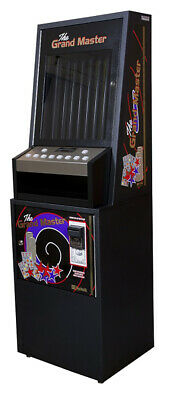 Black Grand Master 8 Column Lottery Pull Tab Vending Machine