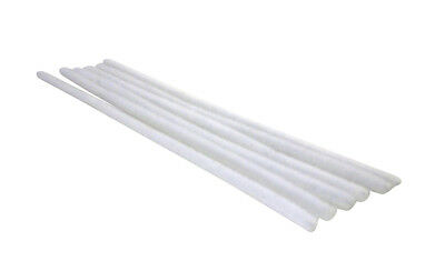 WHITE CHENILLE STEM PIPE CLEANERS 20cm PACK OF 500