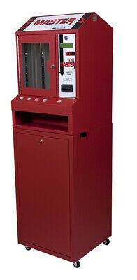 Red Master 4 Column Lottery Pull Tab Vending Machine