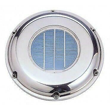 SOLAR DELUXE VENT FAN with REMOTE CONTROL STAINLESS  VENTILATOR Model: SVT-224SR
