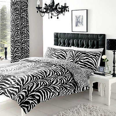 Zebra Print Double Duvet Cover Quilt Cover Set Bedding With Pillow Cases Gaveno