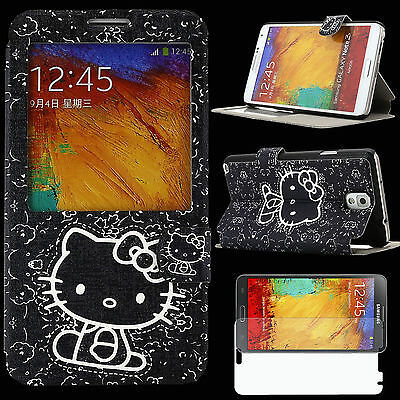 Case for Samsung Galaxy Note 3 III Cover KLUB Skin PU Leather Hello Kitty