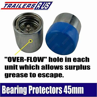 Trailer Bearing Buddies 2pcs Bearing Protectors with Dust Caps 45mm Boat