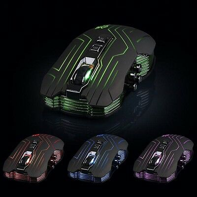 9D 3200DPI Optical 2.4G Wireless Gaming Mouse For DotA FPS Laptop PC Tide New