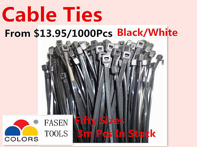 Bulksale Nylon Cable Zip Ties  Black & White