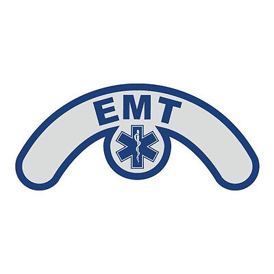 EMT Extended Helmet Crescent with Star of Life Reflective Decal Sticker