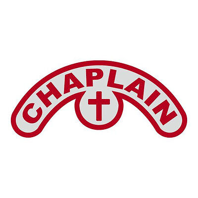 Chaplain Extended Helmet Crescent with Cross Reflective Decal Sticker