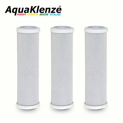 "3 x  5 micron Carbon block CTO 10"" Filters for Koi Fish and Reverse Osmosis"