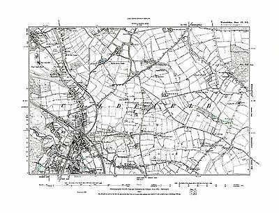 Old Map of  Sutton Coldfield, Warwickshire in 1887- Repro 4 SE