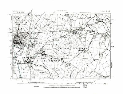 Warwickshire in 1938- Repro 10 SE Old Map of Wittleford Heath Stockingford