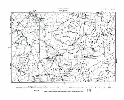 Old Map of Nether Whitacrel, Warwickshire in 1887- Repro 9 NE