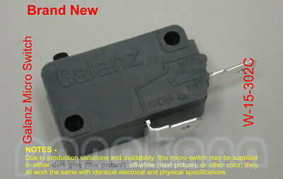Galanz W-15-302C Micro Switch, SPST; replacement for many – Brand New