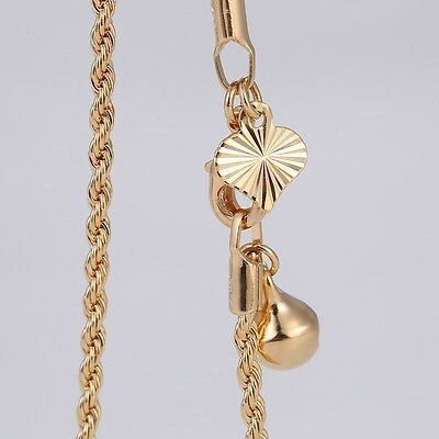"""9K 9ct Yellow """"GOLD FILLED"""" Fish Charm ANKLE CHAIN ,ANKLET Adjustable 10.5"""" Gift"""