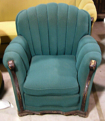 Circa 1930's - 1950's Chair, Blue