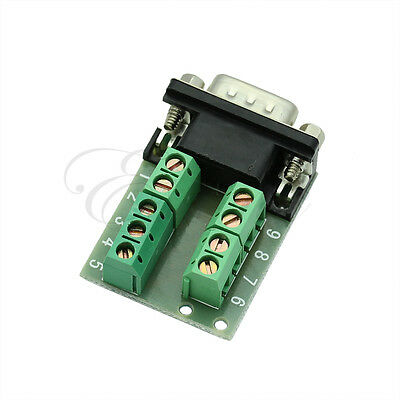 New RS232 Serial to Terminal DB9 Male Adapter Connector Signals Terminal Module