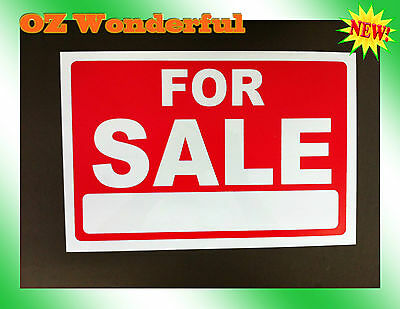 1pc For Sale Sign, 30cm x 20cm Plastic Sign Reusable, sale your car