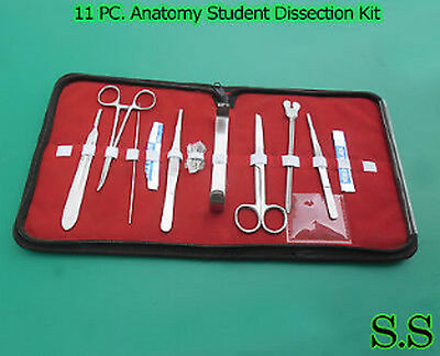 11 PC. Anatomy Student Dissection Kit