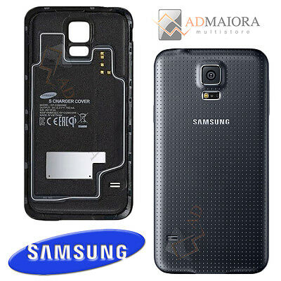 Cover Induzione Wireless Nera ORIGINALE SAMSUNG S Charger Per Galaxy S5 G900